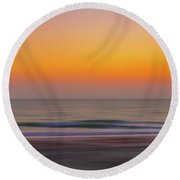 Sunset At The Beach Round Beach Towel