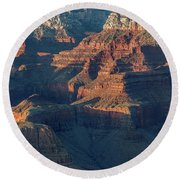 Sunset At The South Rim, Grand Canyon Round Beach Towel