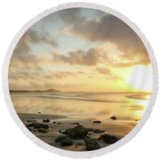 Sunset Beach Delight Round Beach Towel