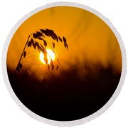 Sunset Beach Round Beach Towel by Kevin Cable