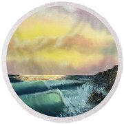 Sunset Beach Round Beach Towel by Thomas Janos
