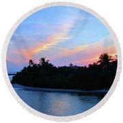 Sunset Beauty Round Beach Towel