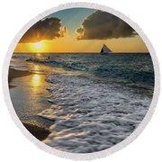 Sunset Boracay Round Beach Towel