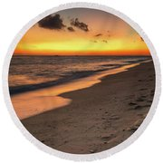 Sunset Boracay Philippines Round Beach Towel