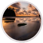Sunset Breeze Tranquility Round Beach Towel