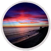 Sunset Round Beach Towel by Chris Tarpening