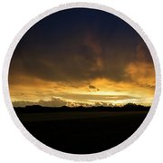 Sunset Clouds Round Beach Towel by Brian Jones