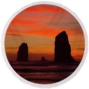 Sunset Coast Round Beach Towel