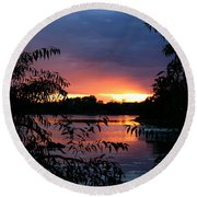 Sunset Cove Round Beach Towel