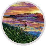 Sunset Creation Round Beach Towel