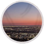 Sunset Dreaming Round Beach Towel