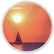 Sunset Dreams Round Beach Towel