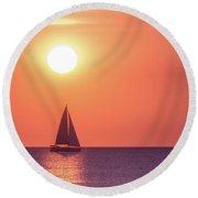 Sunset Dreams Round Beach Towel