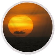 Sunset Fireball Round Beach Towel