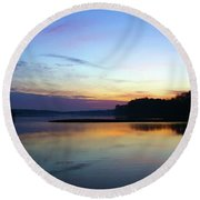 Sunset Florida Seascape Inlet 139a Round Beach Towel
