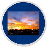 Sunset Forecast Round Beach Towel