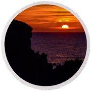 Sunset From Costa Paradiso Round Beach Towel