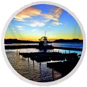 Round Beach Towel featuring the photograph Sunset From Pier 39 - San Fransisco by Glenn McCarthy Art and Photography