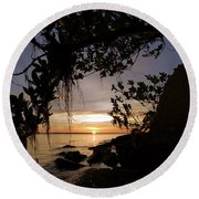 Sunset From The Mangroves Round Beach Towel