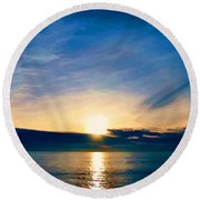 Shine Through Me Round Beach Towel by Sharon Soberon