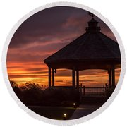 Sunset Gazebo Lavallette New Jersey Round Beach Towel