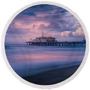 Sunset Glow Round Beach Towel