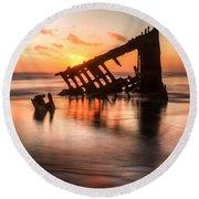 Sunset Glow 0016 Round Beach Towel