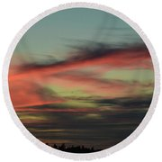 Round Beach Towel featuring the photograph Sunset Home 2 by Ronda Broatch