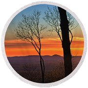 Sunset Hues Round Beach Towel