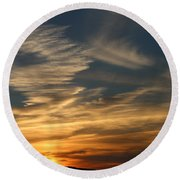 Sunset In Bar Harbor Round Beach Towel by Living Color Photography Lorraine Lynch