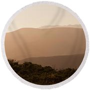 Sunset In California Round Beach Towel
