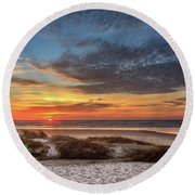 Round Beach Towel featuring the photograph Sunset In Florence by James Eddy