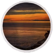 Sunset In May Round Beach Towel by Randy Hall