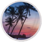Sunset In Paradise Round Beach Towel