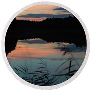 Sunset In September Round Beach Towel