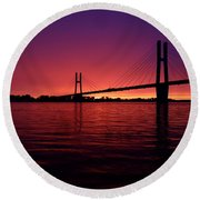 Sunset In The View Round Beach Towel