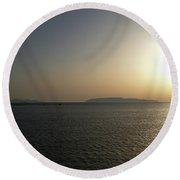 Sunset In Trapani Round Beach Towel