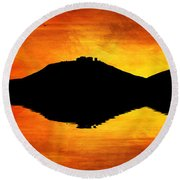 Sunset Island Round Beach Towel