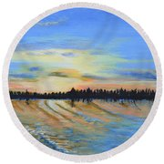 Sunset-ivanhoe1 Round Beach Towel