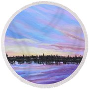 Sunset-ivanhoe2 Round Beach Towel