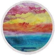 Sunset Lagoon Round Beach Towel