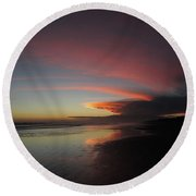Sunset Las Lajas Round Beach Towel by Daniel Reed