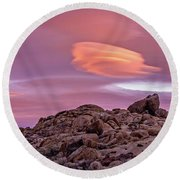 Sunset Lenticular Round Beach Towel