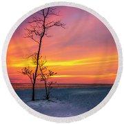Sunset Light Round Beach Towel
