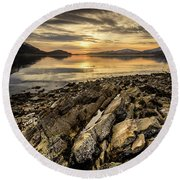 Sunset, Loch Lochy Round Beach Towel