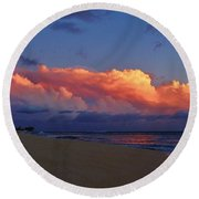 Sunset Looking West Round Beach Towel by Craig Wood