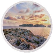 Sunset Malgrats Islands Round Beach Towel