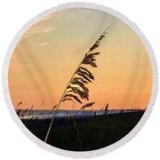 Sunset Memories Round Beach Towel