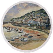 Sunset Mousehole Round Beach Towel