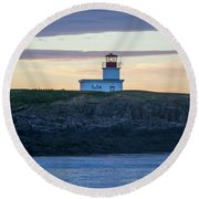 Round Beach Towel featuring the photograph Sunset Nova Scotia  by Trace Kittrell